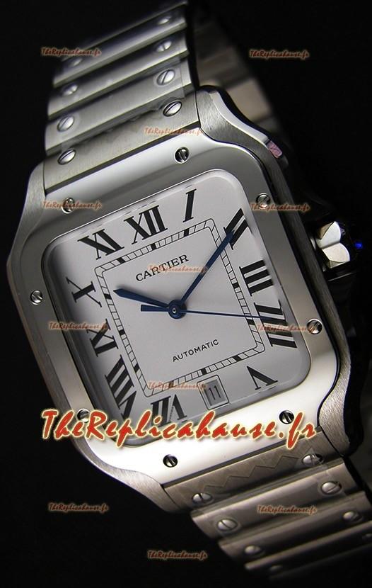 Cartier Santos De Cartier 1:1 Miroir Montre Réplique - 40MM Acier Inoxydable