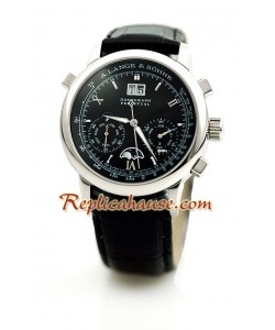 A. Lange & Sohne Datograph Perpetual Leather Montre