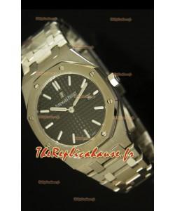 Réplique de montre Royal Oak Audemars Piguet pour femmes avec un cadran noir de 33mm - Édition Réplique miroir 1:1
