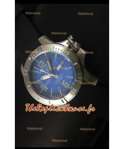 Ball Hydrocarbone Spacemaster avec bracelet en caoutchouc avec date du jour automatique sur cadran bleu - mouvement Citizen original
