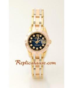 Rolex Replique DateJust - Three Tone Lady's