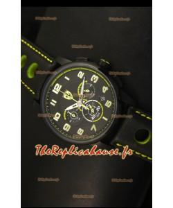 Montre chronographe Scuderia Ferrari Heritage en acier noir