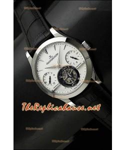 Jaeger LeCoultre Tourbillon Perpetual GMT Tourbillon Noir Sangle Montre