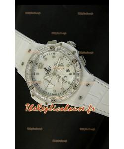 Montre pour femmes Hublot Big Bang 34mm avec mouvement Quartz - Cadran/Bracelet blanc