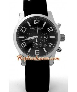 Mont Blanc Replique Timewalker - Black Dial