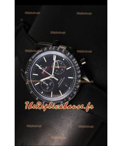 Réplique de montre coaxiale japonaise Omega Speedmaster Moon avec boîtier noir