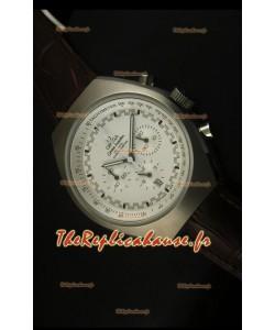 Chronographe coaxial Omega Speedmaster MARK II avec boîtier en acier brossé