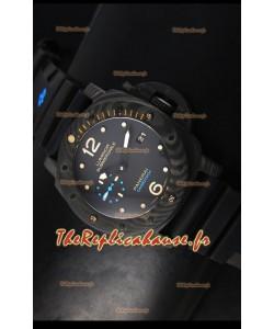 Réplique de montre suisse 1:1 Panerai Luminor 1950 Submersible PAM616 Carbotech