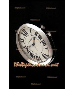 Cartier Travel Pocket Clock avec Mouvements à Quartz Type Baignoire