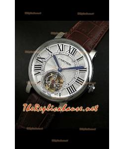 Cartier Calibre Japanese Tourbillon Montre Bracelet Marron