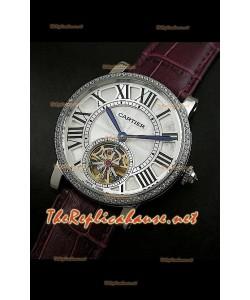 Cartier Calibre Japanese Tourbillon Montre Bracelet Violet