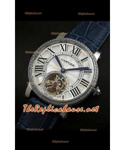 Cartier Calibre Japanese Tourbillon Montre Bracelet bleu
