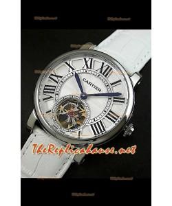 Cartier Calibre Japanese Tourbillon Montre Bracelet Blanc