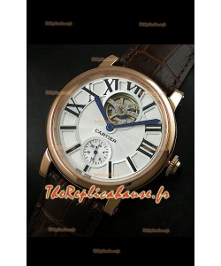 Ballon de Cartier Tourbillon volant Reproduction Montre Japonais - Boitier Or Rose