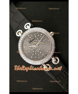Chopard Xtraveganza Femmes Montre avec Bracelet Noir Boîtier Garnis de Diamants