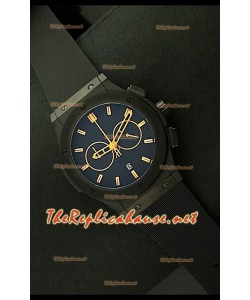 Hublot Vendome Chronograph PVD Japanese Montre - Repères Jaunes