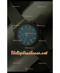 Hublot Vendome Chronograph PVD Japanese Montre - Repères Verts