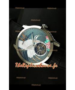 Montre Jaeger LeCoultre Porcelaine Grue Tourbillon Volant - REPRODUCTION EXACTE