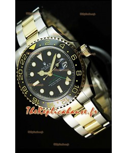 Rolex GMT Masters II Deux Tons Reproduction Montre Suisse - Index Heures Super Lumineux
