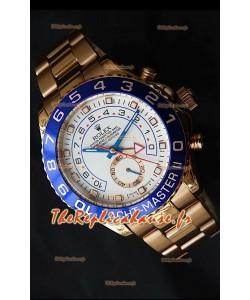 Rolex Imitation Yachtmaster II Montre Suisse Or Rose - Montre Imitation Exacte 1:1