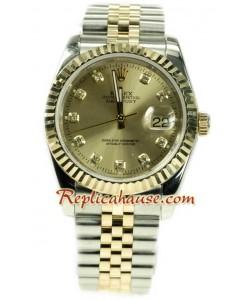 Rolex Datejust Two Tone Montre Replique