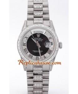Rolex Replique Day Date Silver - Diamond