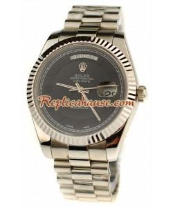 Rolex Replique Day Date Silver Montre Suisse