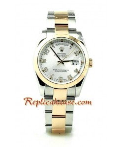 Rolex Replique Day Date Two Tone Pink d' or Montre Suisse