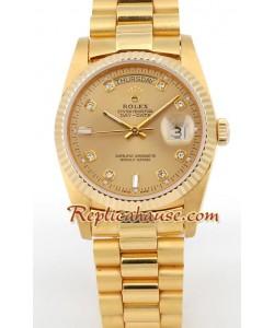 Rolex Replique Day Date Suisse Hommes d' or Montre