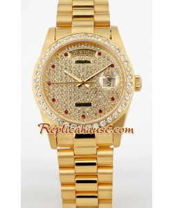 Rolex Replique Day Date d' or Diamond