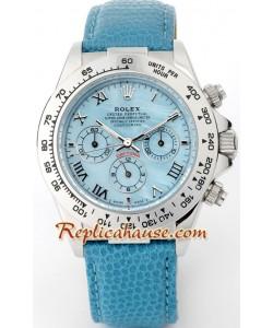 Rolex Replique Daytona Blue Leather Hommes Montre