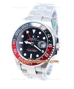 Rolex GMT Master II  Suisse Noir & Rouges Céramique Bezel Montre