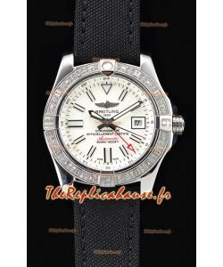 Breitling Avenger II montre suisse en acier GMT 1:1 Edition ultime - cadran blanc