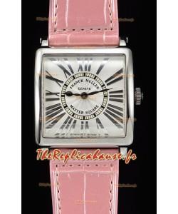 Franck Muller Master Square montre réplique suisse pour les dames à miroir 1:1 bracelet rose