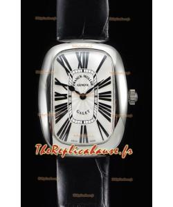 Franck Muller Galet Quartz montre suisse pour les dames bracelet noir