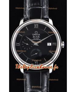 Omega Co-Axial Prestige montre suisse en acier inoxydable avec fonction réserve de marche