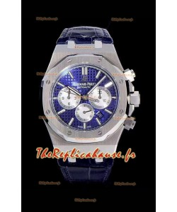 Chronographe Audemars Piguet Royal Oak Cadran bleu 904L Réplique miroir 1:1 en acier