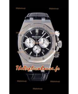 Chronographe Audemars Piguet Royal Oak Cadran noir Réplique miroir 1:1 en acier 904L