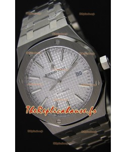 Audemars Piguet Royal Oak 41MM cadran argenté Bracelet en acier  - 1:1 Miroir Édition Ultime