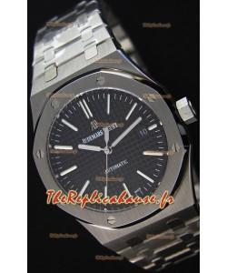 Audemars Piguet Royal Oak 41MM cadran noir Bracelet en acier - 1:1 Miroir Édition Ultime