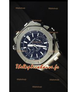 Montre Audemars Piguet Royal Oak Offshore réplique à chronographe de plongée suisse à quartz en cadran noir