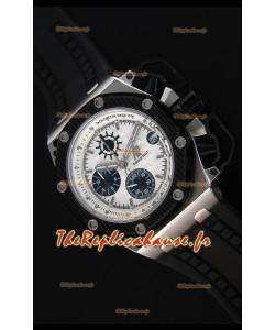Montre Audemars Piguet Royal Oak Survivor Chronographe Suisse Réplique à Chronographe à Quartz en Cadran Blanc