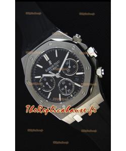 Montre Audemars Piguet Royal Oak à Chronographe Cadran Noir Réplique à l'identique 1:1