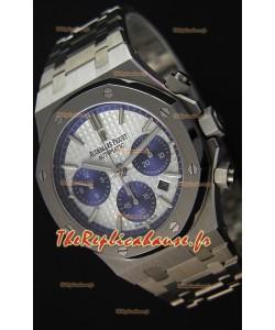 Montre Audemars Piguet Royal Oak Suisse Répliquée à Chronographe avec Cadran blanc Acier et Bracelet