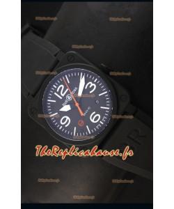 Montre Replica Suisse Bell & Ross BR03-92 Edition Limitée avec Cadran Noir