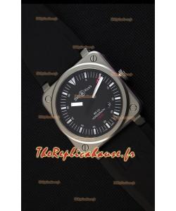 Montre Bell & RossBR03-92 Suisse Cadran noir Bracelet en caoutchouc Réplique à l'identique 1:1