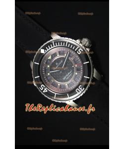 Reproduction de Montre Suisse Blancpain 500 Fathoms avec un Cadran en Carbone Gris - 1:1 Edition Miroir