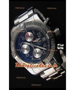 Montre Breitling Avenger à Chronographe Suisse avec Cadran Gris Sombre Répliquée à l'identique 1:1