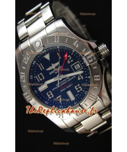 Montre Breitling Avenger II GMT Swiss cadran noir Bracelet en acier Réplique à l'identique 1:1