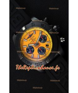 Montre Breitling ChronomatB01 Blacksteel Suisse Version Miroir Ultime Repliquée à l'identique 1:1